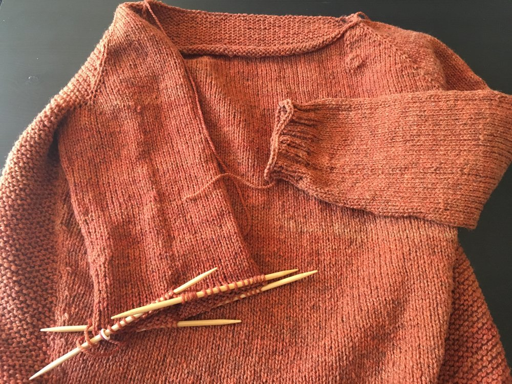 daelyn pullover in progress