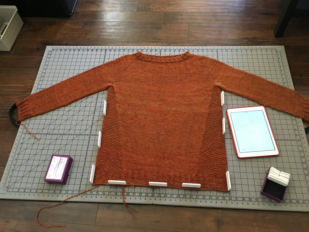 Blocking the Daelyn Pullover