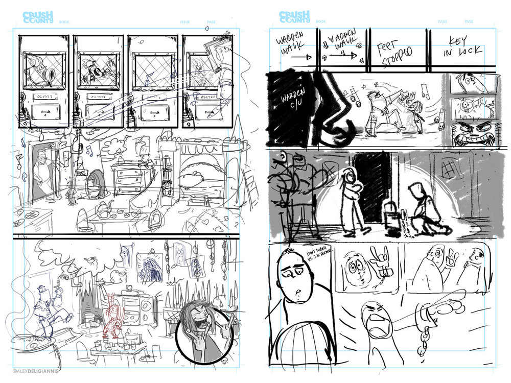 Rough layouts.