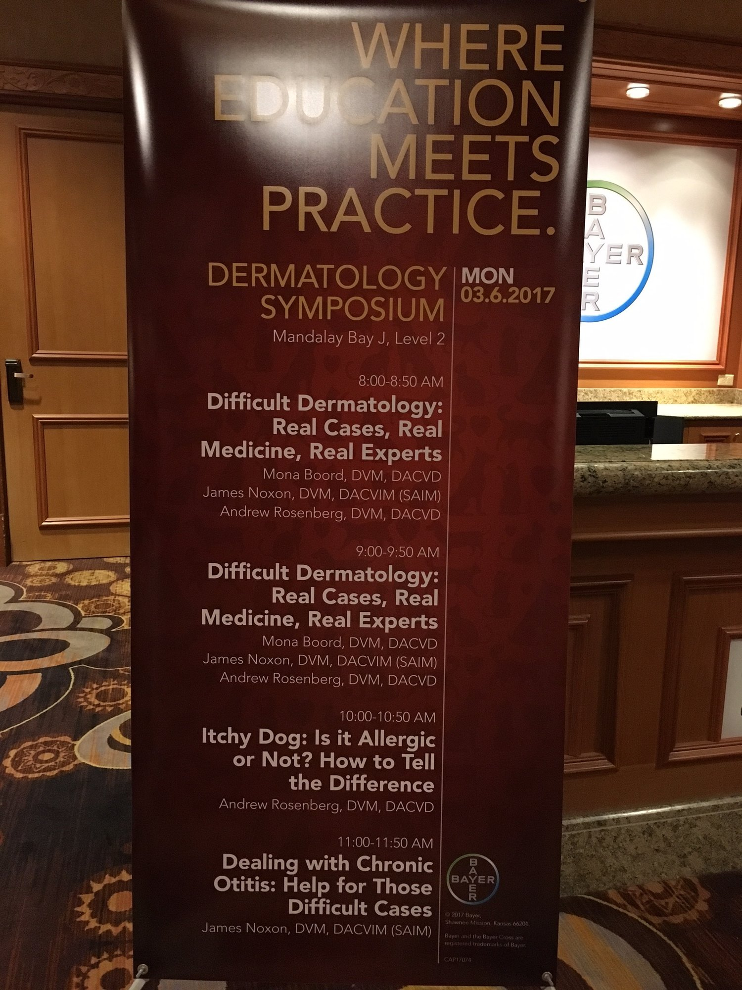 Dr  Rosenberg Lectures at Western Veterinary Conference (WVC