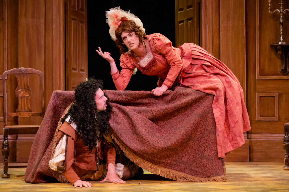 'Tartuffe' - Rebecca sings Elmire, wife of Orgon (John Anderson, Bass) in Opera NUOVA's production of 'Tartuffe'