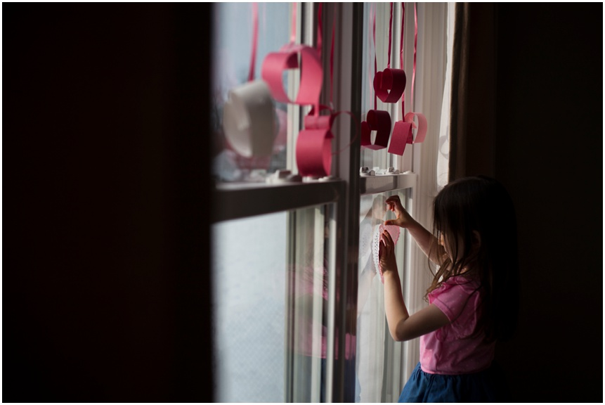 Rochester Family Photographer Hanging Valentines