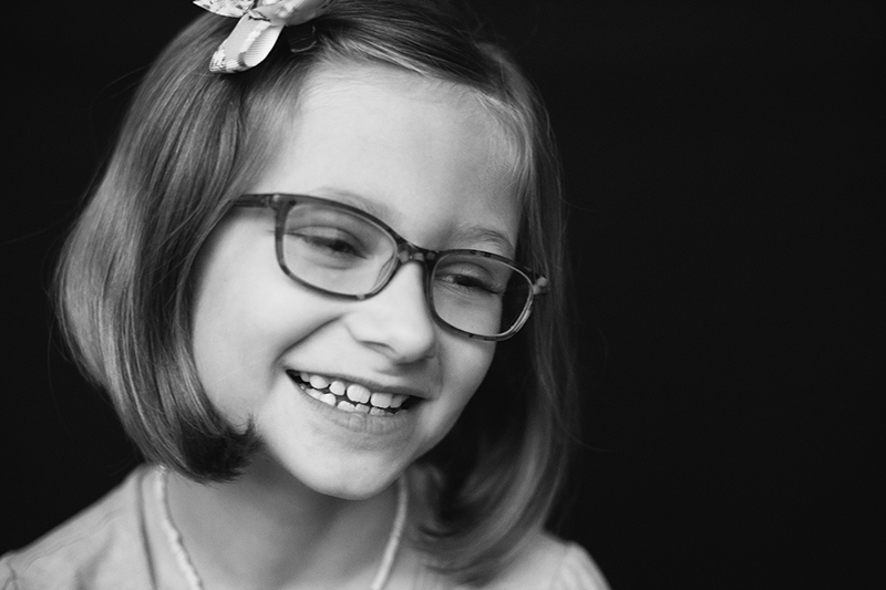 Oneonta NY school photographer confident beaming girl