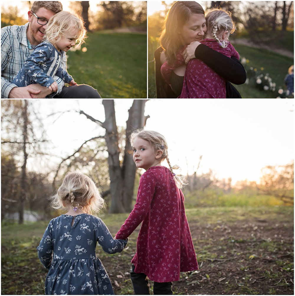 Rochester NY Family Photographer, family time together snuggling and walking