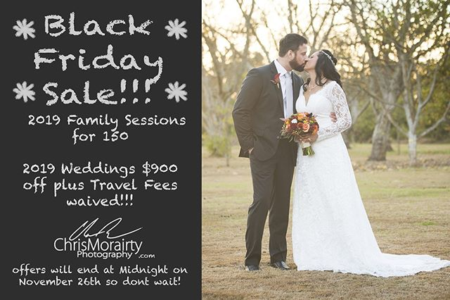 Black Friday Wedding and Family Portrait Sale
