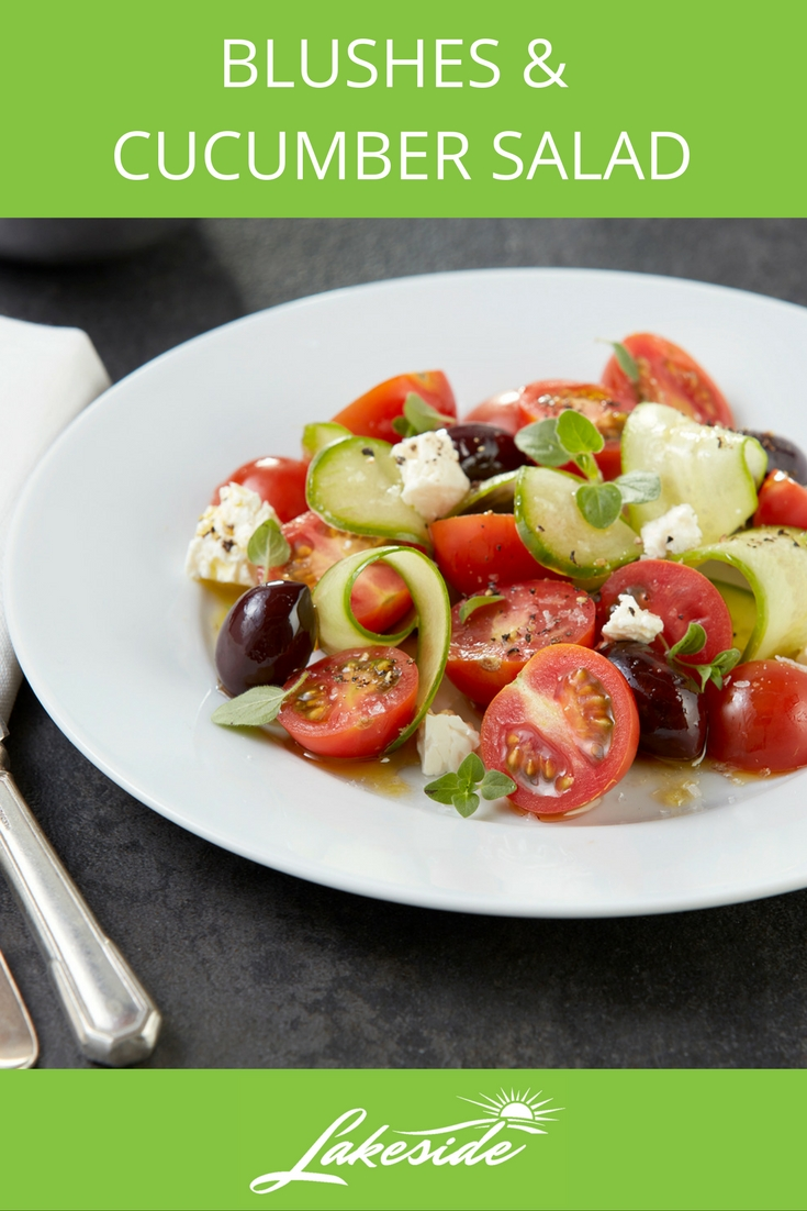 Blushes and Cucumber Salad -Lakeside - Tomato Recipes