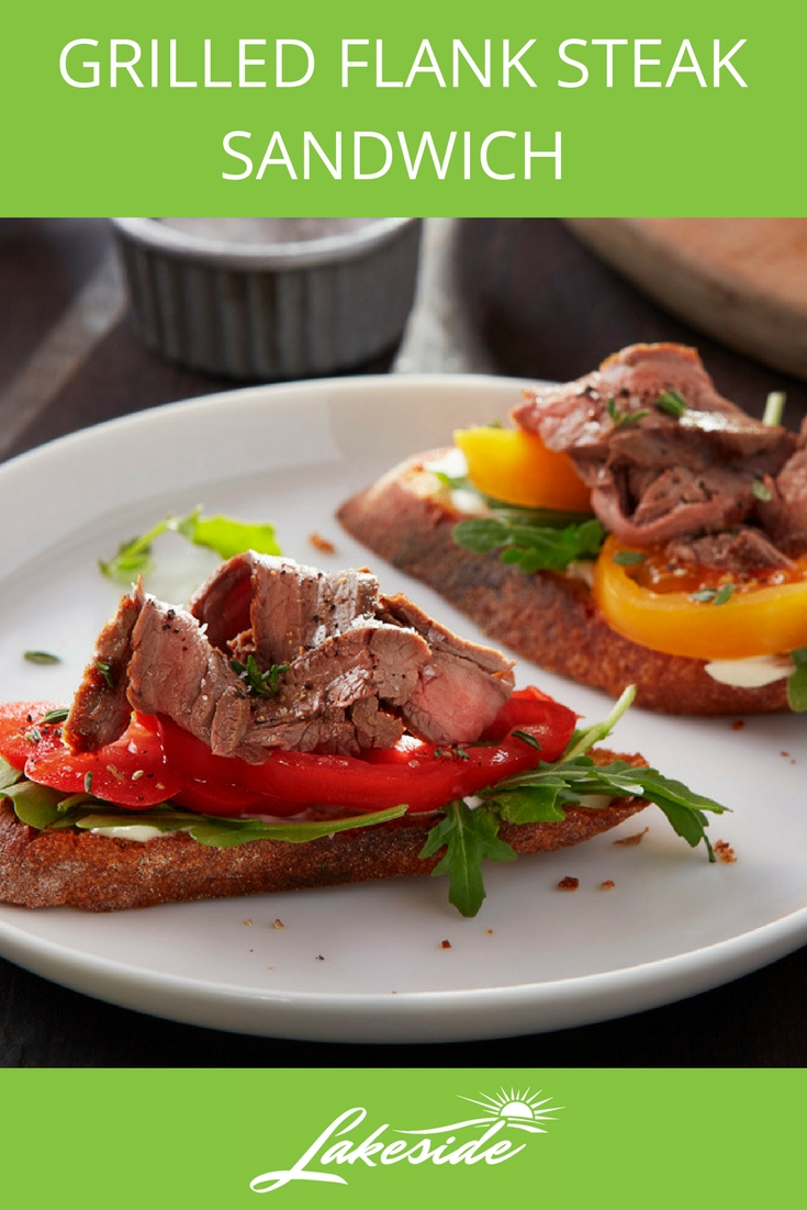 Grilled Flank Steak Sandwich - Lakeside - Tomato Recipes