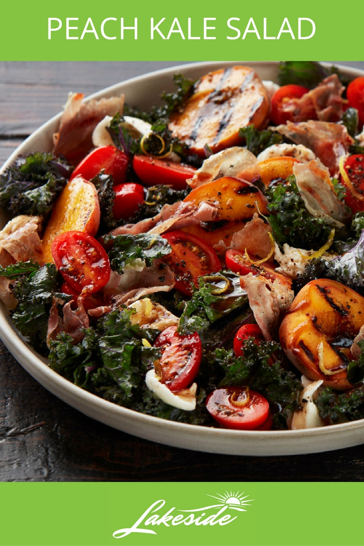 Peach Kale Salad - Lakeside - Tomato Recipes
