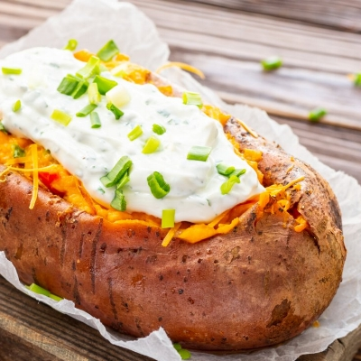 Pepper Stuffed Sweet Potatoes