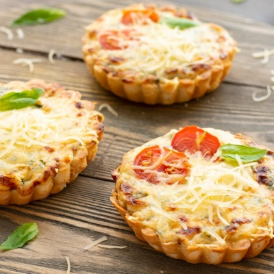 Cheese & Cherry Tomato Tarts