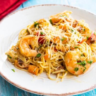 Pepper & Shrimp Pasta