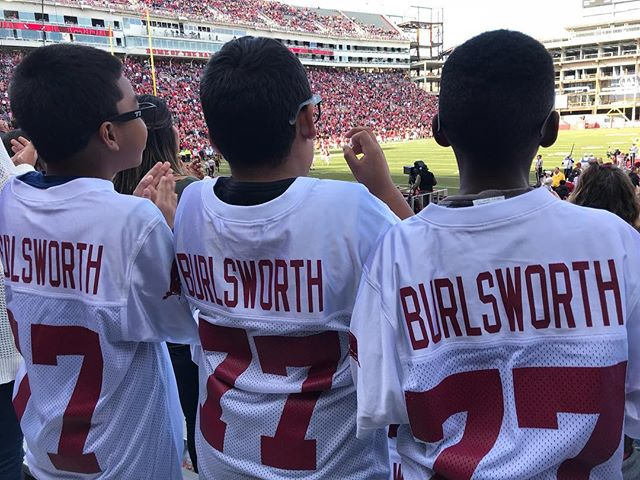 Flashback to last Friday when we got to be apart of the #burlsworth family and experience a Razorback football game! Go Hogs!! Our students were very excited and appreciative for this experience.