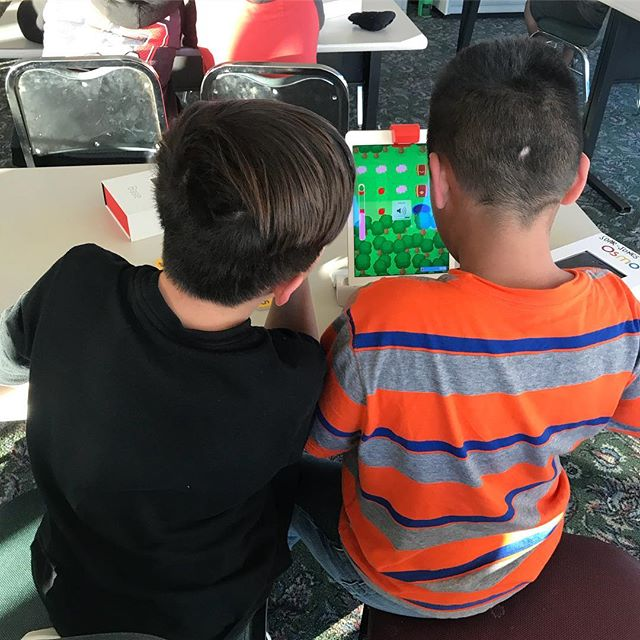 We ❤️ @playosmo coding!!! #riseup #afterschoolworks #soarstudents