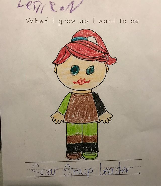 """At our """"lifeline career night"""", one of our students put that she wanted to be a SOAR Group Leader! This shows how much of an impact our staff makes on our students! Rise up! #soarstaff"""