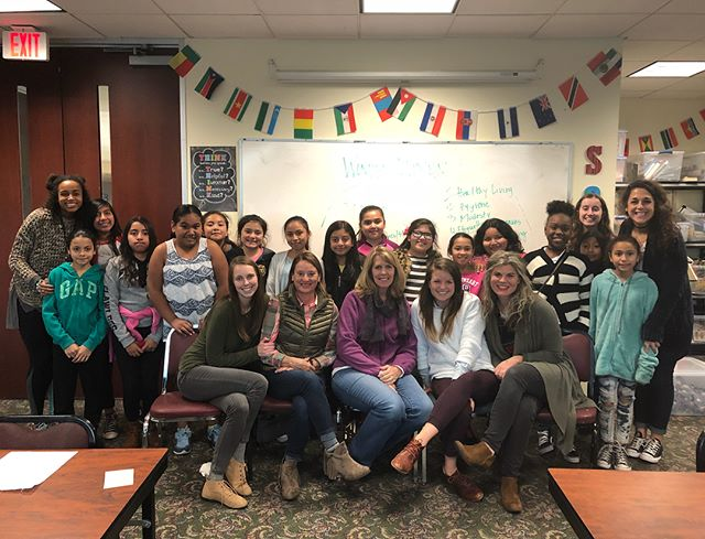 """We are so thankful for our WONDER WOMEN guest speakers today! They helped us with communication skills AND they did a Q & A panel for all our well thought out """"life questions""""! #soarstudents #afterschoolworks #riseup"""
