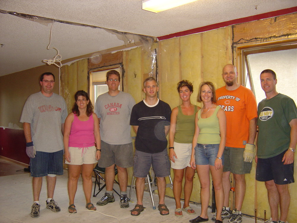 """""""Consider hosting a """"demolition party"""" – ours went for an entire weekend as generous friends stopped in to help rip apart the house!"""