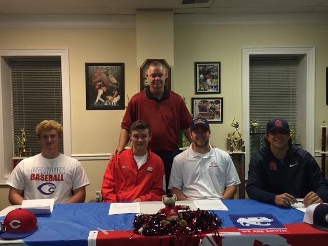 From left to right: Andrew Stemple- Calhoun Community College Bailey Gillespie- University of South Alabama Reid Powers- University of South Alabama Jake Christa- University of South Alabama McKinley Erves- LaGrange College