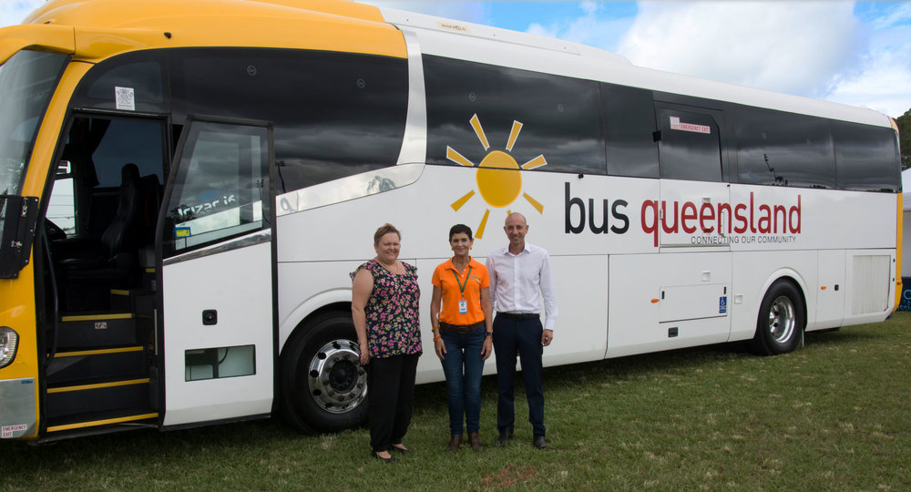 - From the left, Nicole Phillips - Depot Manager at Bus Queensland (Locker Valley), Tanya Milligan - Mayor of Lockyer Valley and Adam Pulitano - Pulitano Group Managing Director.