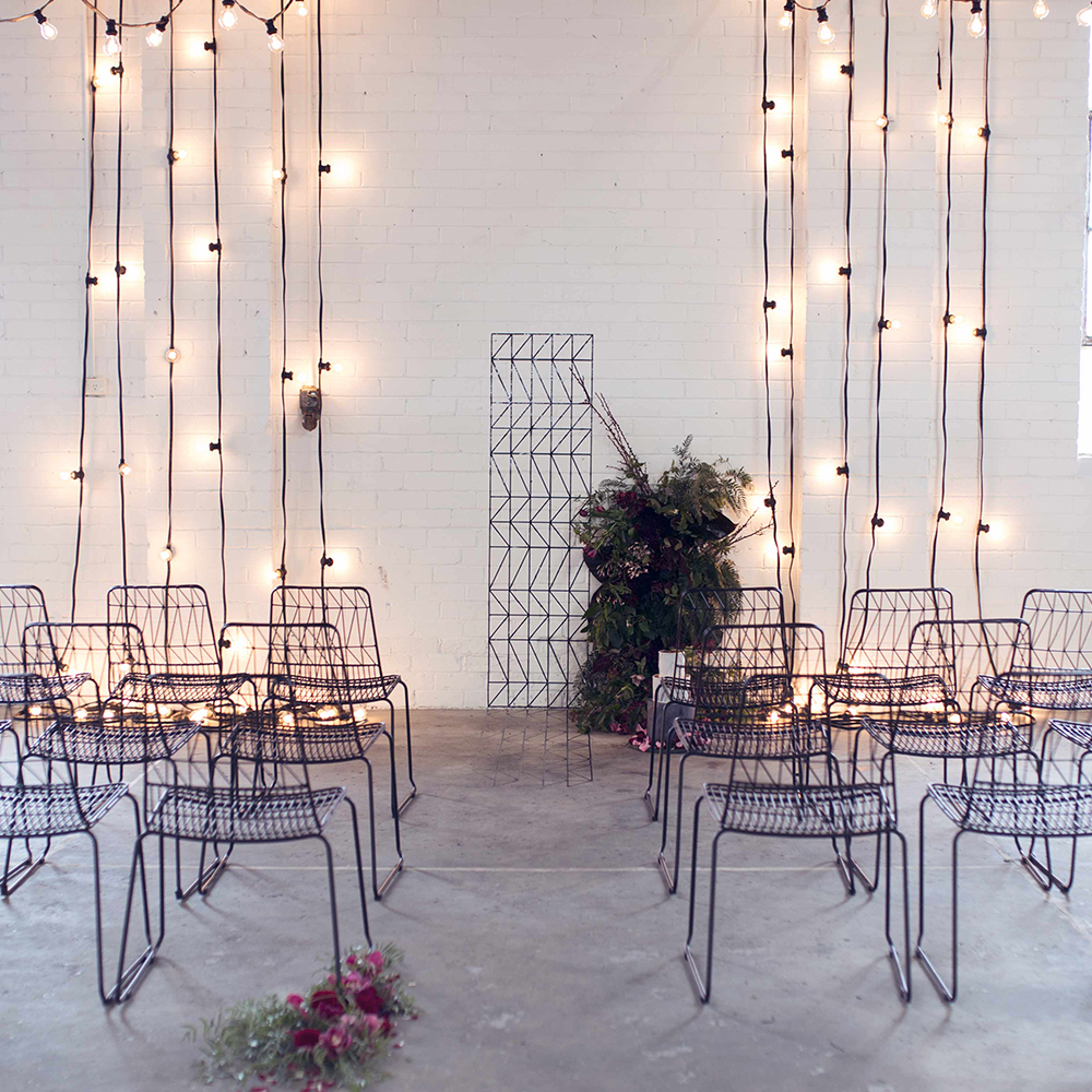 Black & White Festoon Lighting    Available in Various Lengths