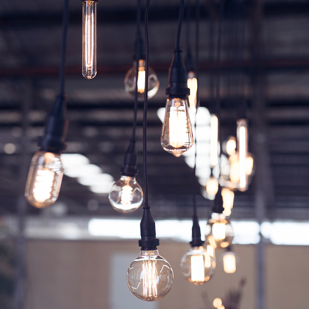 Bare Festoon Bulb Pendants   Sizes and Styles Vary