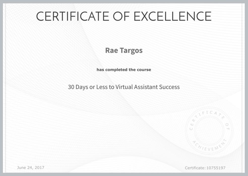 30 Days to VA Certificate