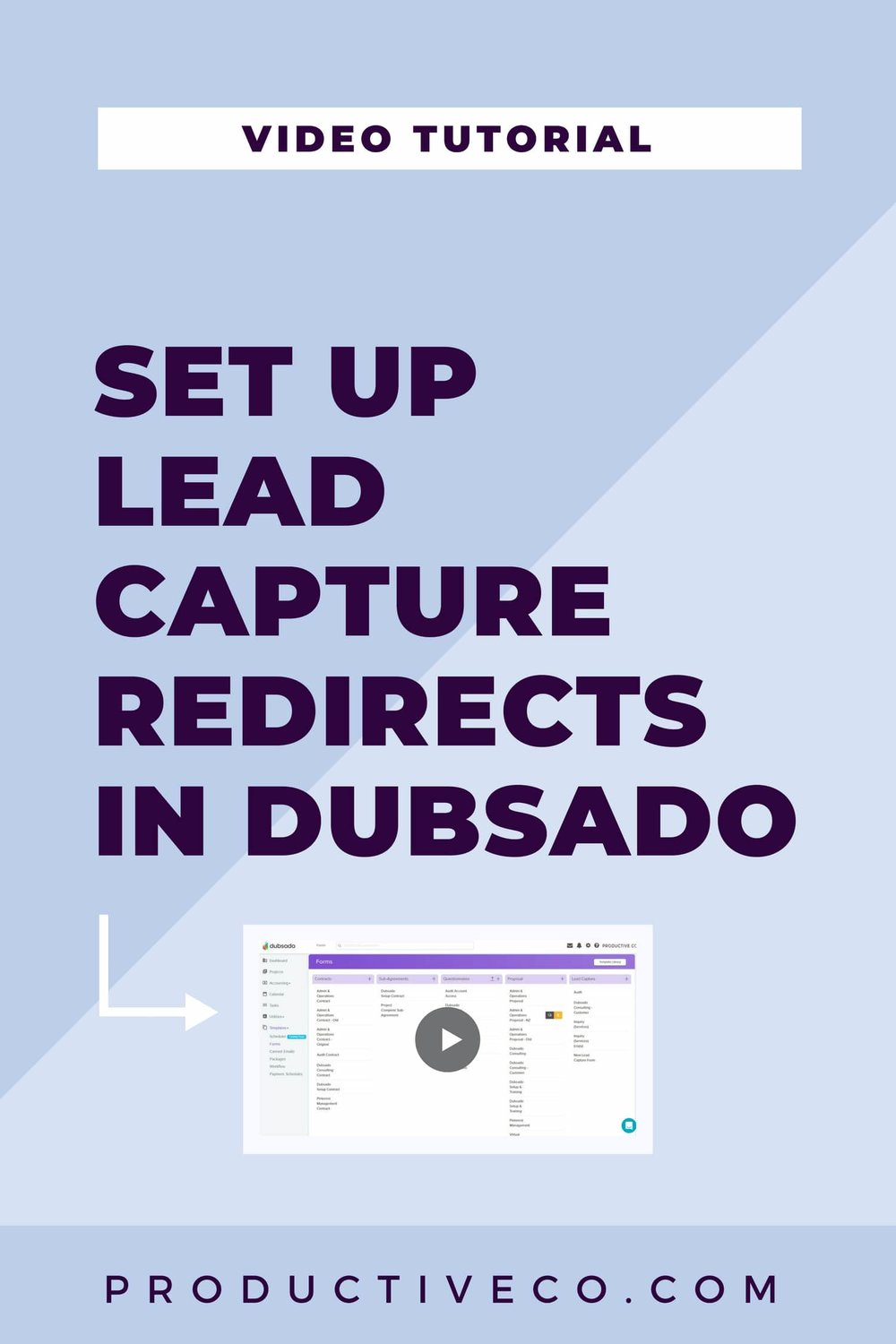 Send your leads to a custom page once they fill out your Dubsado lead capture (contact form). Show off your branding by re-directing to the URL of your choice.