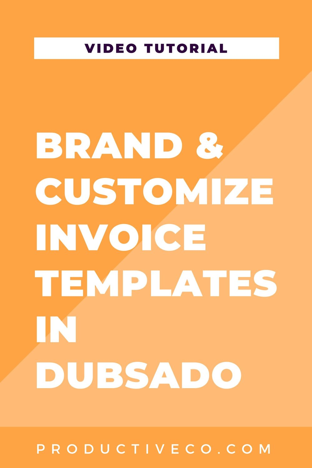 Customize your invoice templates in Dubsado quickly. These changes will appear on every invoice.