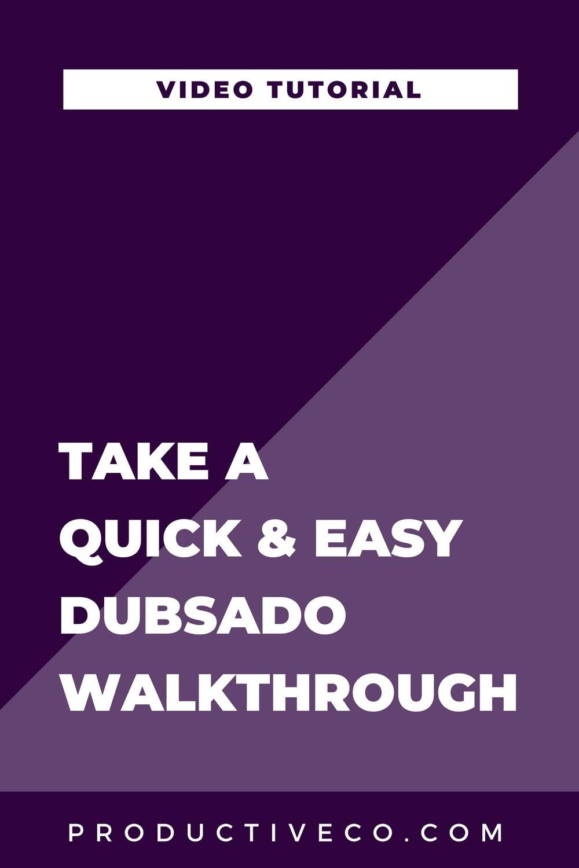A Quick & Easy Dubsado Walkthrough Video. Take a tour of Dubsado in this tutorial.
