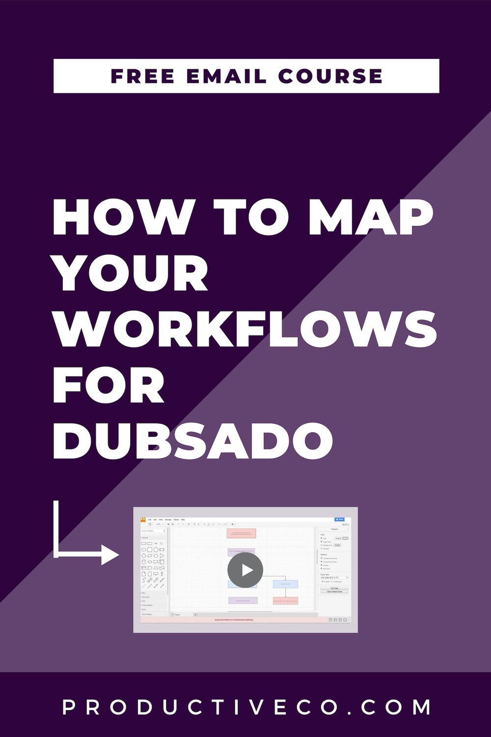 Workflow mapping for Dubsado setup. Get my free email course, Dubsado Workflow Secrets to give you the foundation you need for setup.