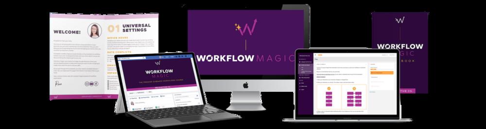 Workflow Magic e-course mockups.