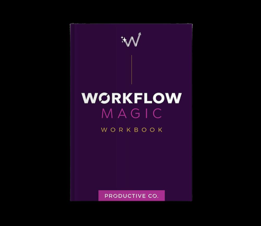 Workflow Magic workbook mockup.