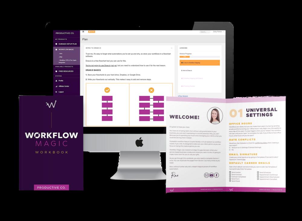 Workflow Magic, Dubsado workflows course.