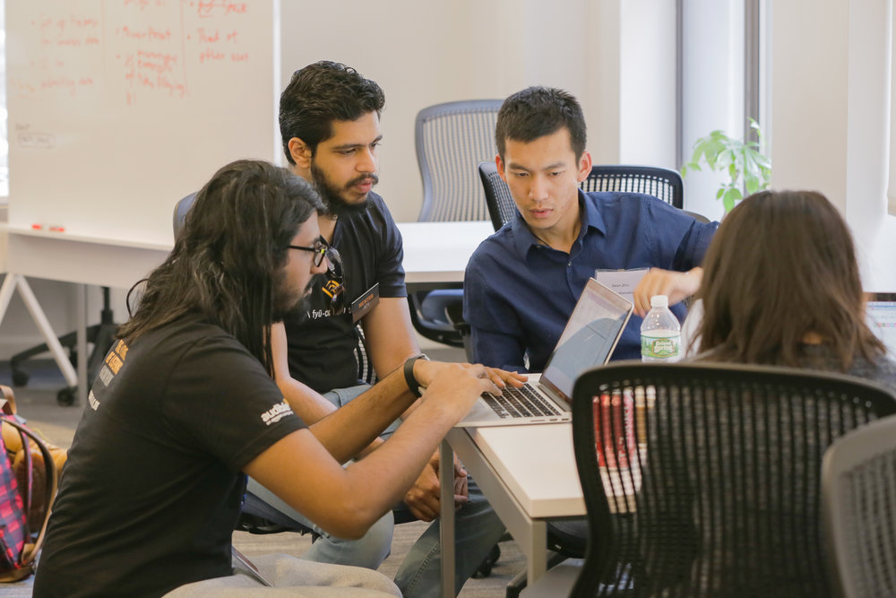 Audible engineers working with NYC university graduate students.