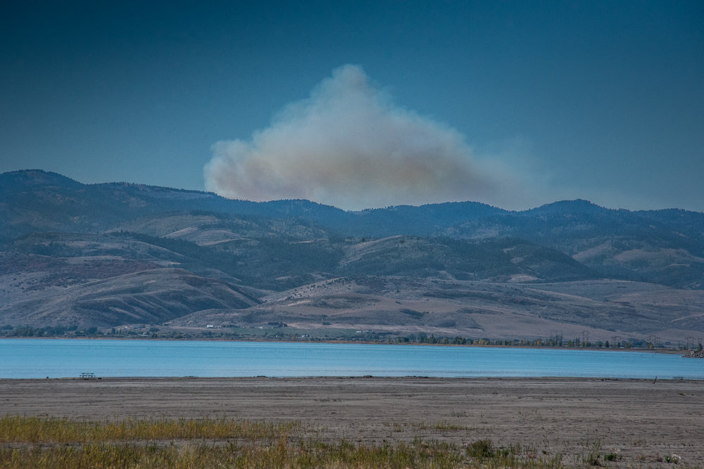 Forrest Fire Above Bear Lake, Idaho. ©Robert Brian Welkie