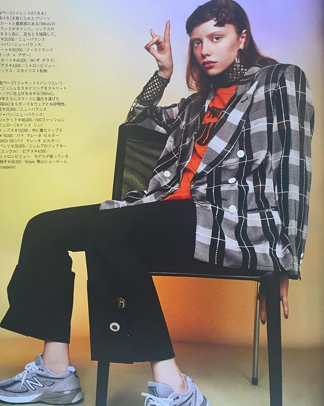 Saint Sin Extra maxi check organza jacket in Spur magazine May issue☘☘☘ #saintsin #h3otokyo #checkjacket #lessthanzero #ss18