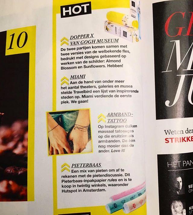 Wie had gedacht dat Pieterbaas net zo hot was als armband tattoos en Miami? Nu in de HOT-lijst van de @grazia_nl 🔥☀️ #hot #lit #pieterbaas #grazia #sinterklaas2016 #pakpapier