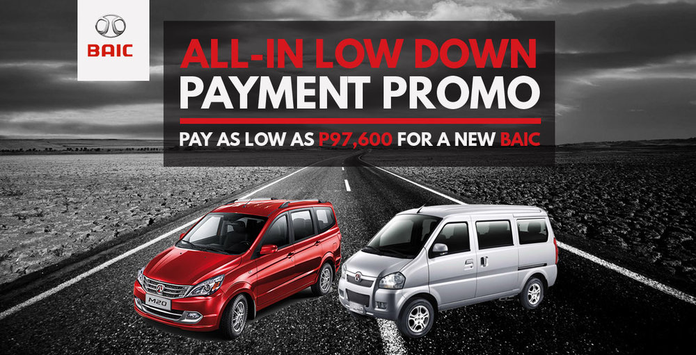 baic all-in promo august 2017