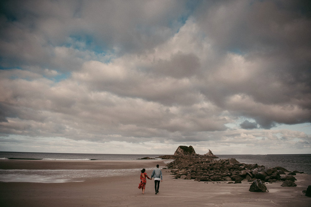 Mangawhai Beach beach engagement photo shoot {Auckland wedding photographers}