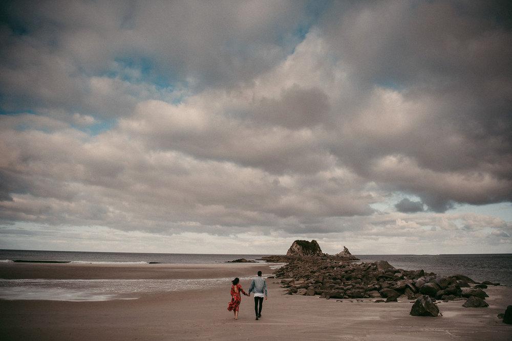 Mangawhai Beach beach engagement photo shoot {Auckland wedding photographers}