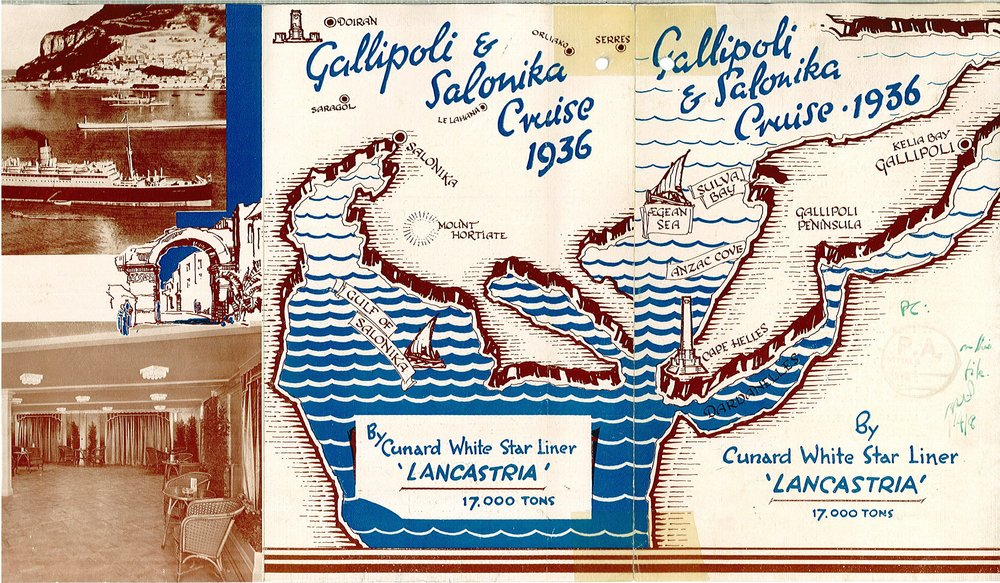 Gallipoli and Salonika Cruise 1936 leaflet front cover
