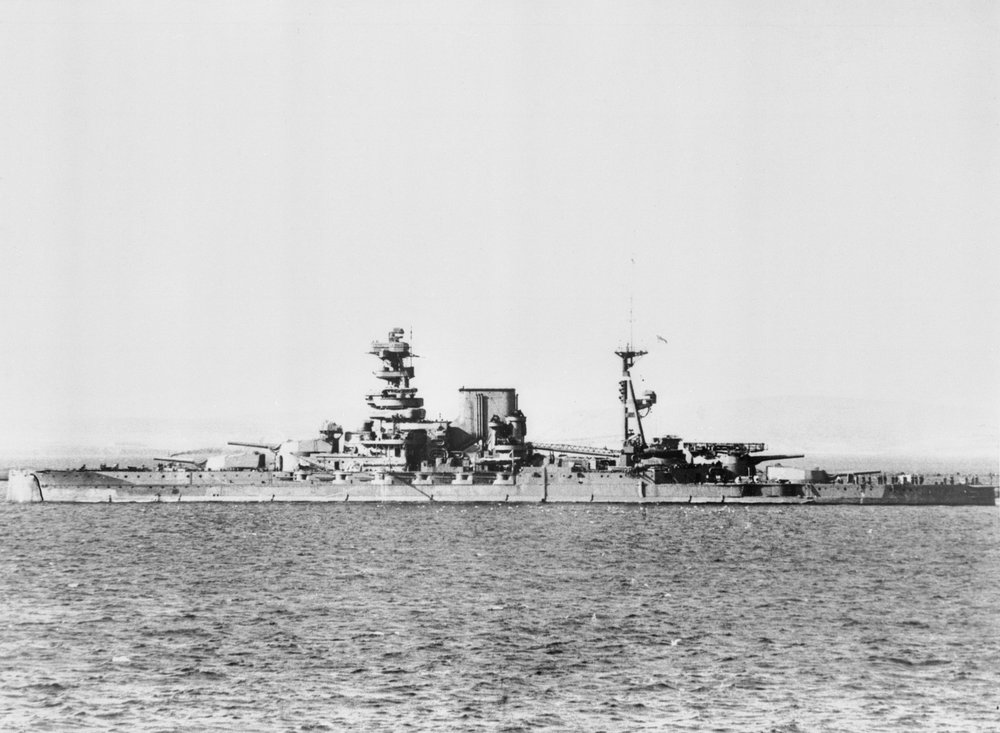 HMS Barham Underway off Devonport - May 1941 © IWM FL 1472