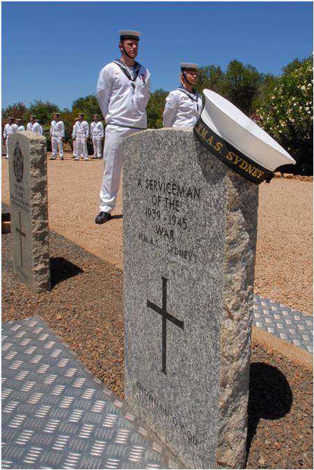 HMAS Sydney grave in CWGC Geraldton War Cemetery