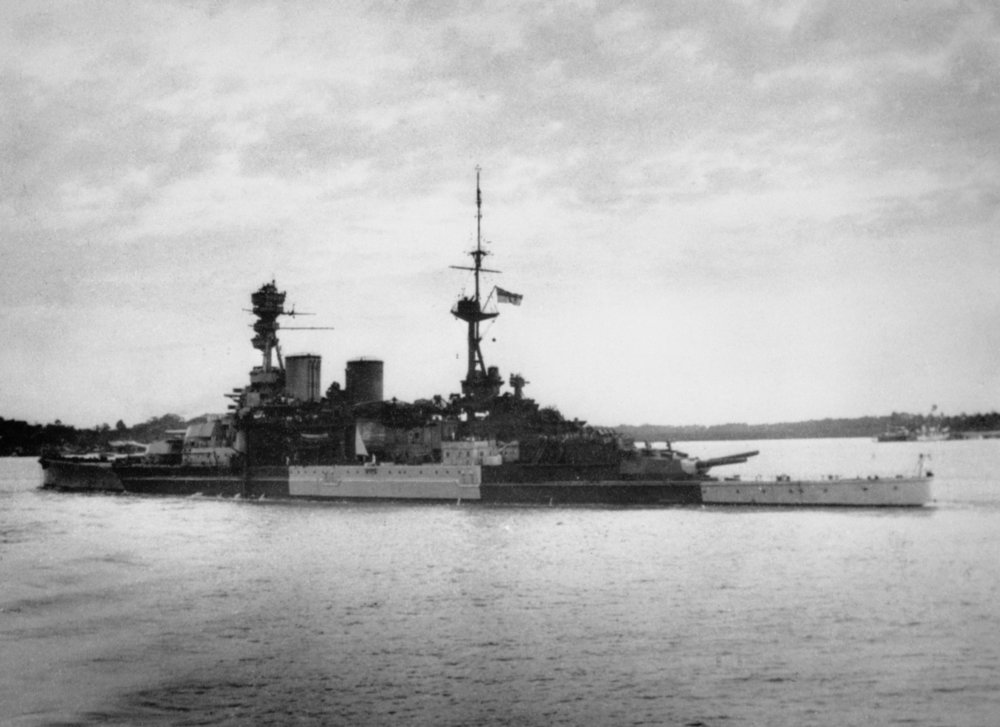 S Repulse HMS sailing from Singapore on her last operation 8 Dec 1941 - A 29069