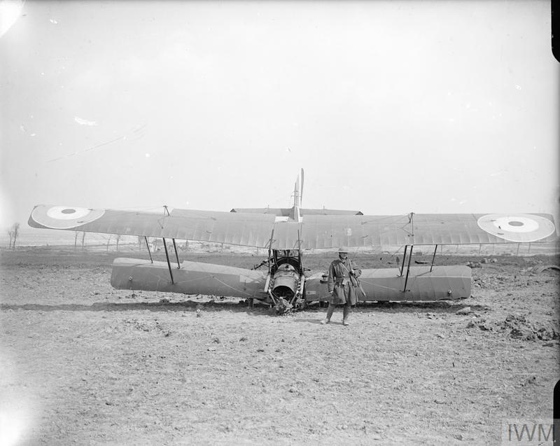 Crashed BE2e, April 1917