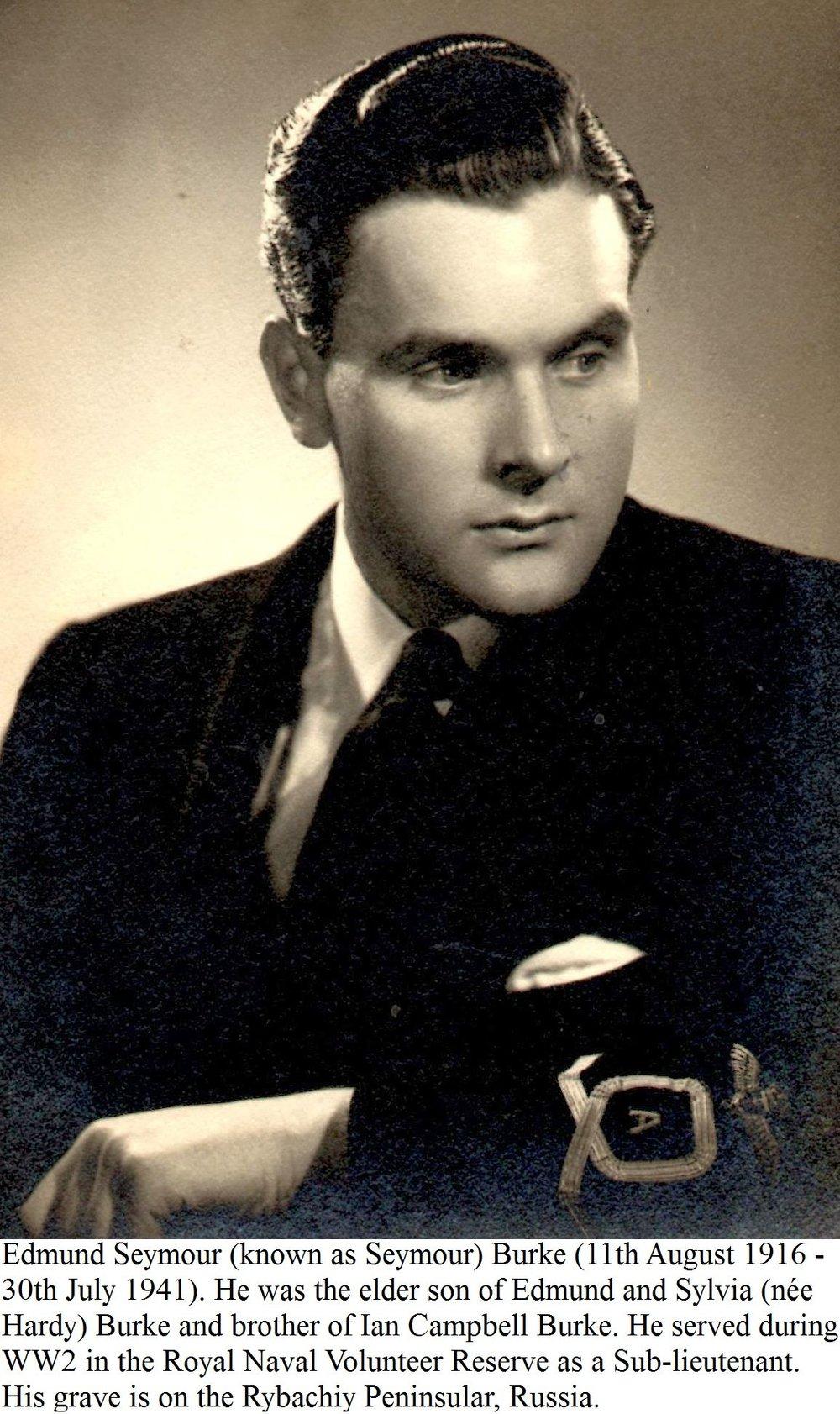 Sub-Lieutenant Edmund Seymour Burke