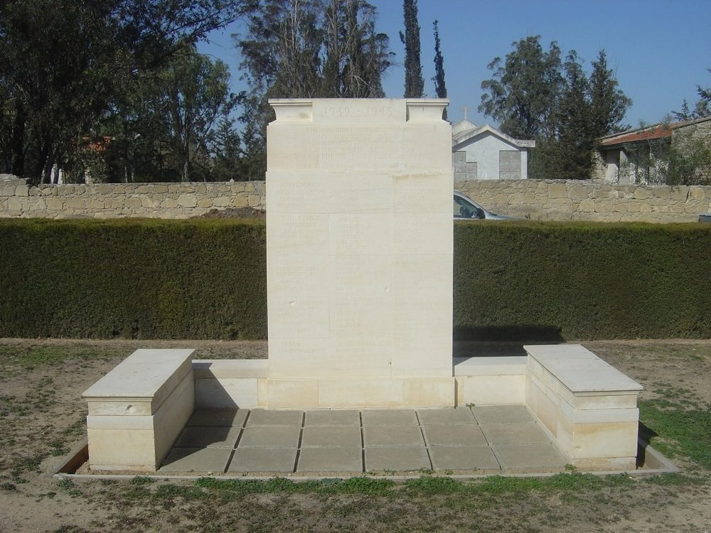 Memorial to the Cyprus Regiment in Nicosia War Cemetery