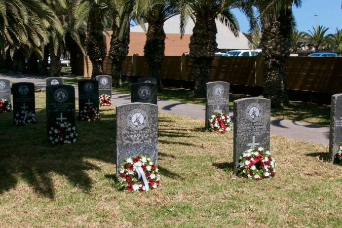 New graves at Swakopmund Municipal Cemetery