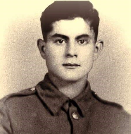 Ian's father, Durmoush 'Dennis' Hussein aged 19 when he served in the Cyprus Regiment (1942-47)