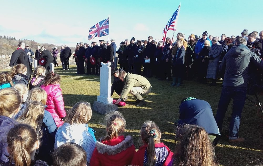 Commemorative event at CWGC's Kilnaughton Military Cemetery on the Scottish island of Islay on 5 February