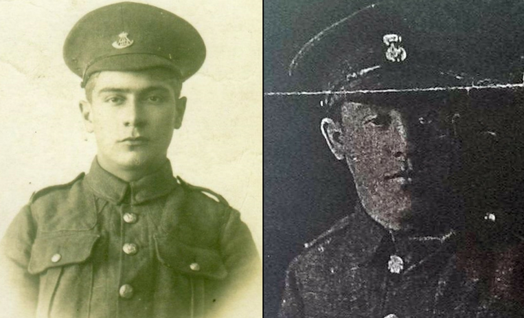 Private William Culine (left) and Private Andrew Simons (right)